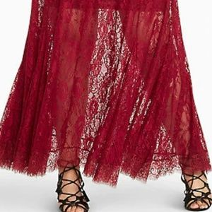Dresses - Designer lace scalloped dress